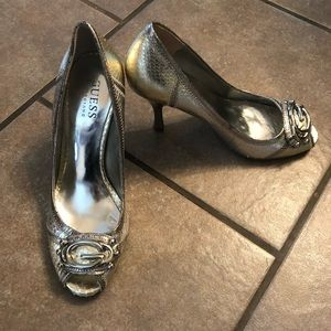 Guess by Marciano Silver Heels